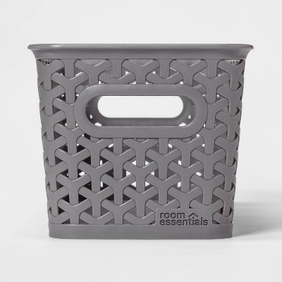Y-Weave 1/2 Medium Rectangle Storage Bin Gray - Room Essentials™