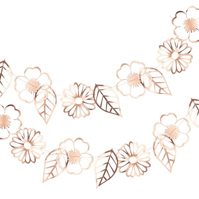 Ginger Ray Rose Gold Foiled Flower Garland Ditsy Floral