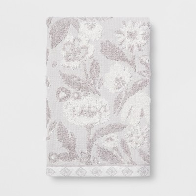 Floral Bath Towel Gray - Opalhouse™