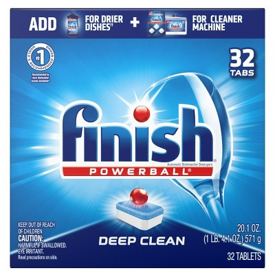 Finish Power Ball All In 1 Dishwasher Detergent Tabs by In