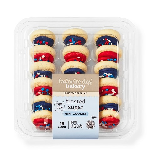 Red & Blue Mini Frosted Sugar Cookies - 18ct - Favorite Day™ - image 1 of 3