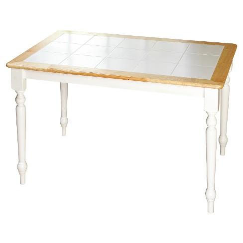 Tara Tile Top Dining Table White Natural Tms Target