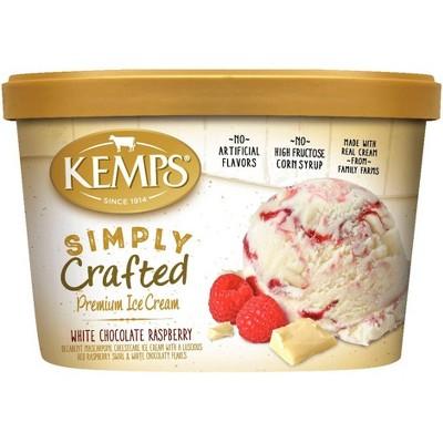 Kemps Simply Crafted White Chocolate Raspberry Ice Cream - 48oz