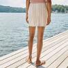 Women's Striped Side Slit Mini Skirt - Wild Fable™ Beige - image 2 of 4