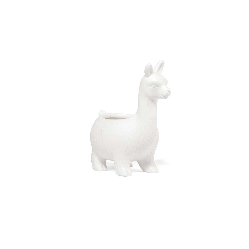 Image of Lloyd the Llama Planter White