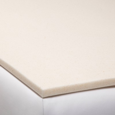 "Queen 1.5"" Copper Infused Gel Memory Foam Mattress Topper Beige - Made By Design™"