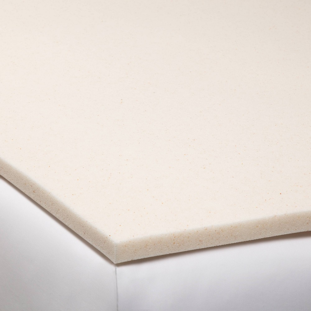King 1.5 Copper Infused Gel Memory Foam Mattress Topper Beige - Made By Design Discounts