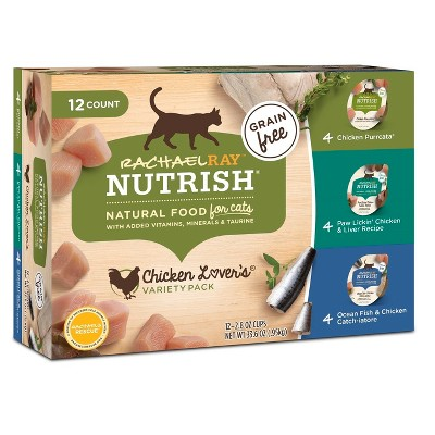 Rachael Ray Nutrish Grain Free Wet Cat Food Chicken Lovers - 2.8oz/12ct Variety Pack
