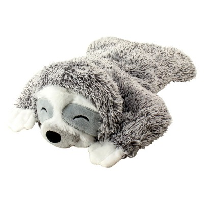 Cuddle & Toss Sloth Plush Squeaks Dog Toy - Gray - L - Boots & Barkley™