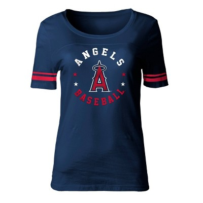 MLB Los Angeles Angels Women's Poly Rayon Fashion T-Shirt