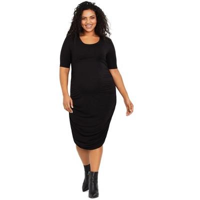 Motherhood Maternity   Plus Size Ruched Maternity Dress
