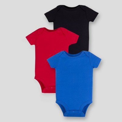 Lamaze Baby 3pk Organic Cotton Bodysuit - Red 6M
