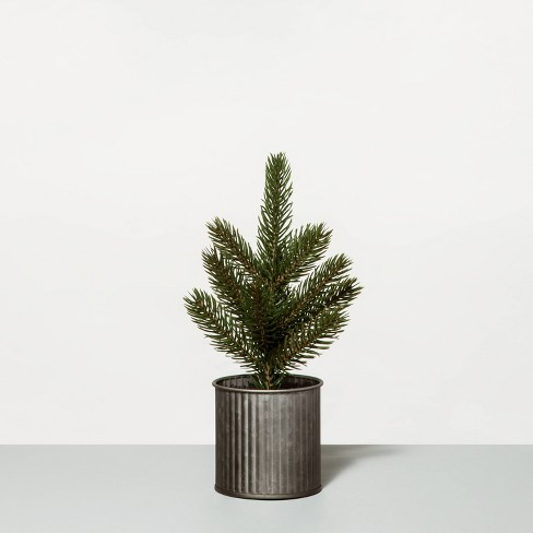 Faux Pine Tree in Metal Planter - Hearth & Hand™ with Magnolia - image 1 of 3