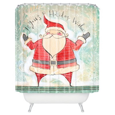Cori Dantini Joyous Holiday Wishes Shower Curtain - Deny Designs