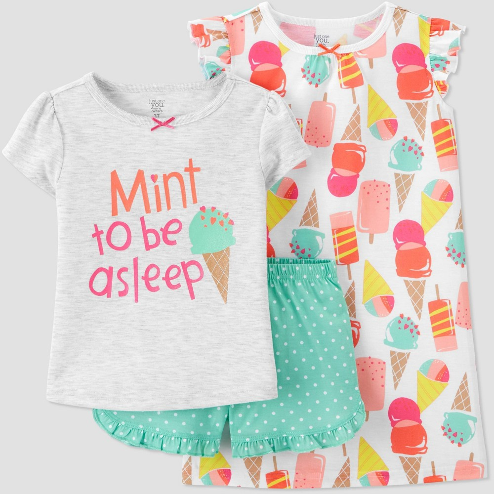 Toddler Girls 39 3pc Ice Cream Pajama Set Just One You 174 Made By Carter 39 S 4t