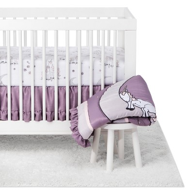 Trend Lab 3pc Crib Bedding Set Unicorn Dreams - Purple