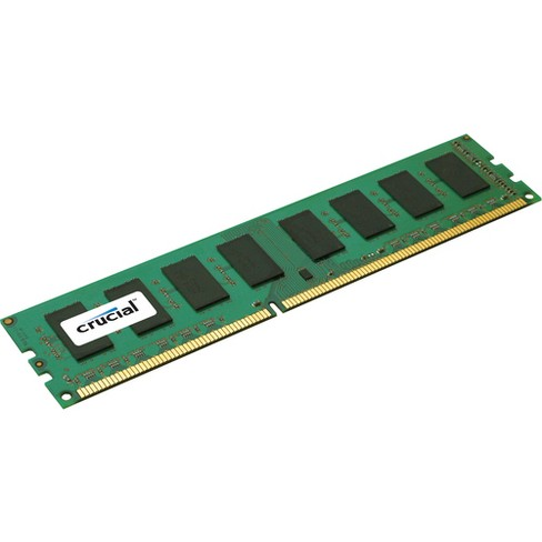 Crucial 4GB, 240-pin DIMM, DDR3 PC3-12800 Memory Module - For Server - 4 GB - DDR3-1600/PC3-12800 DDR3 SDRAM - CL11 - 1.35 V - ECC - Unbuffered - image 1 of 1