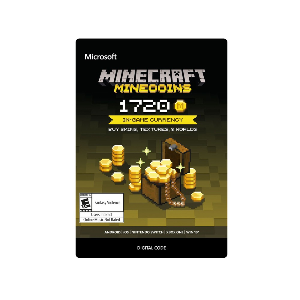 Minecraft: Minecoins 1720 Coins - Xbox One (Digital) How download codes work: You'll receive an email with a download code and instructions on how to redeem your purchase directly on your console or online through your console's website.