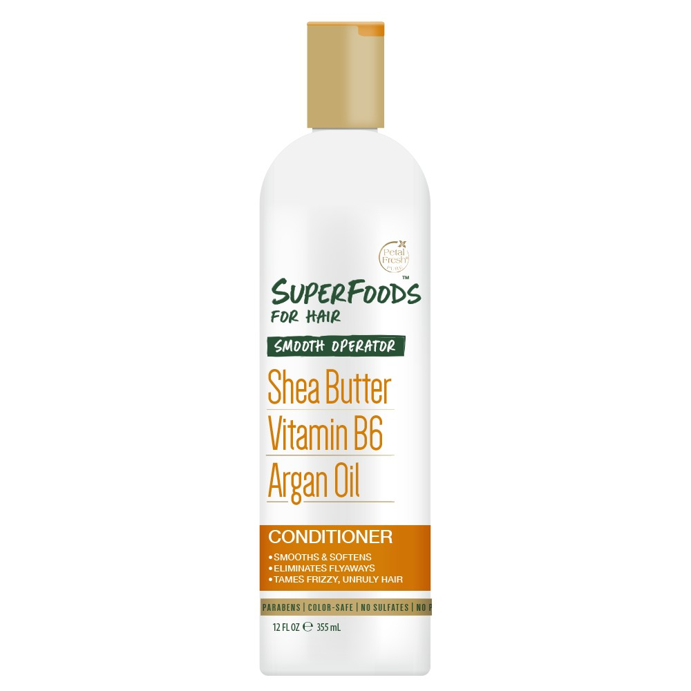 Petal Fresh Pure SuperFoods for Hair Smooth Operator Shea Butter, Vitamin B6 & Argan Oil Conditioner - 12oz