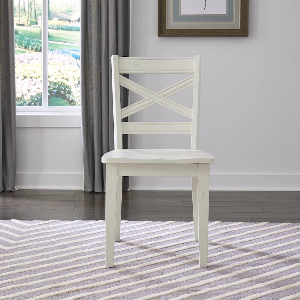 Image of 2pc Seaside Lodge Pair of Dining Chairs White - Home Styles