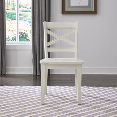 Seaside Lodge Pair of Dining Chairs White - Home Styles - image 1 of 2