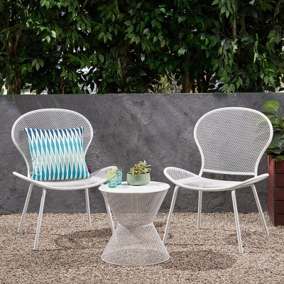 Nevada 3pc Iron Patio Chat Set - Christopher Knight Home