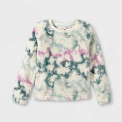 Girls' Sherpa Pullover Sweatshirt - Cat & Jack™