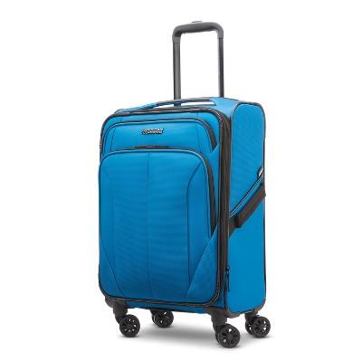 "American Tourister Phenom 20"" Softside Spinner Suitcase - Blue"
