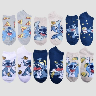 Women's Lilo & Stitch Food 6pk Low Cut Socks - Blue One Size