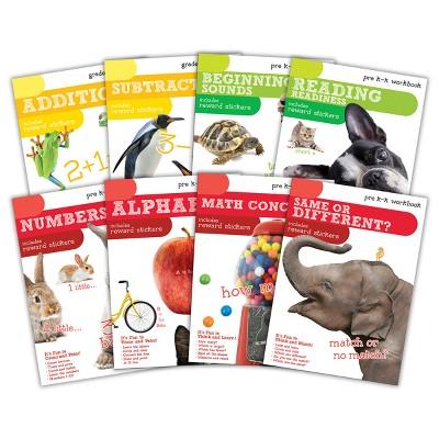 8pk Workbooks with Stickers - Pre-K to Kindergarten Grade - Bendon