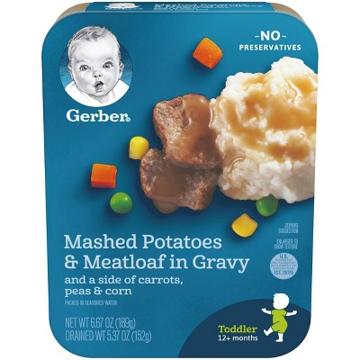 Gerber Lil' Entrees Mashed Potatoes & Meatloaf in Gravy with Carrots Peas & Corn Baby Meals - 6.67oz
