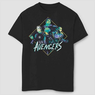 Boys' Marvel Rad Trio Short Sleeve T-Shirt- Black