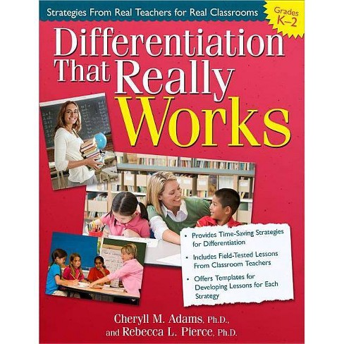 Differentiation That Really Works (Grades K-2) - by  Cheryll Adams & Rebecca Pierce (Paperback) - image 1 of 1