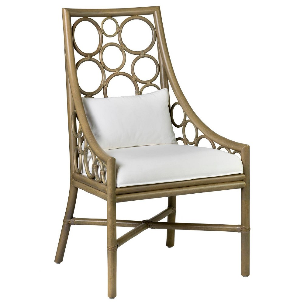 Ilia Rattan Dining Chair Gray - East At Main