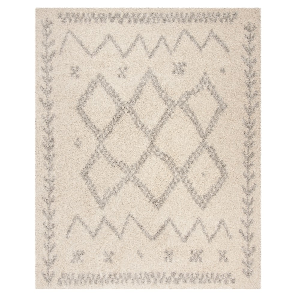 Ivory/Gray Geometric Loomed Area Rug 8'X10' - Safavieh