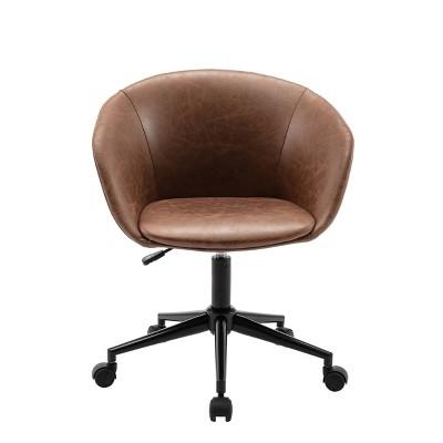 Modern Curved Back Barrel Office Chair - WOVENBYRD