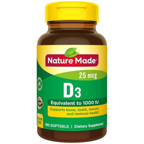 Nature Made Vitamin D3 Dietary Supplement Liquid Softgels - image 1 of 3