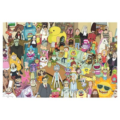 Rick And Morty Group Poster 34x22   Trends International by Trends International