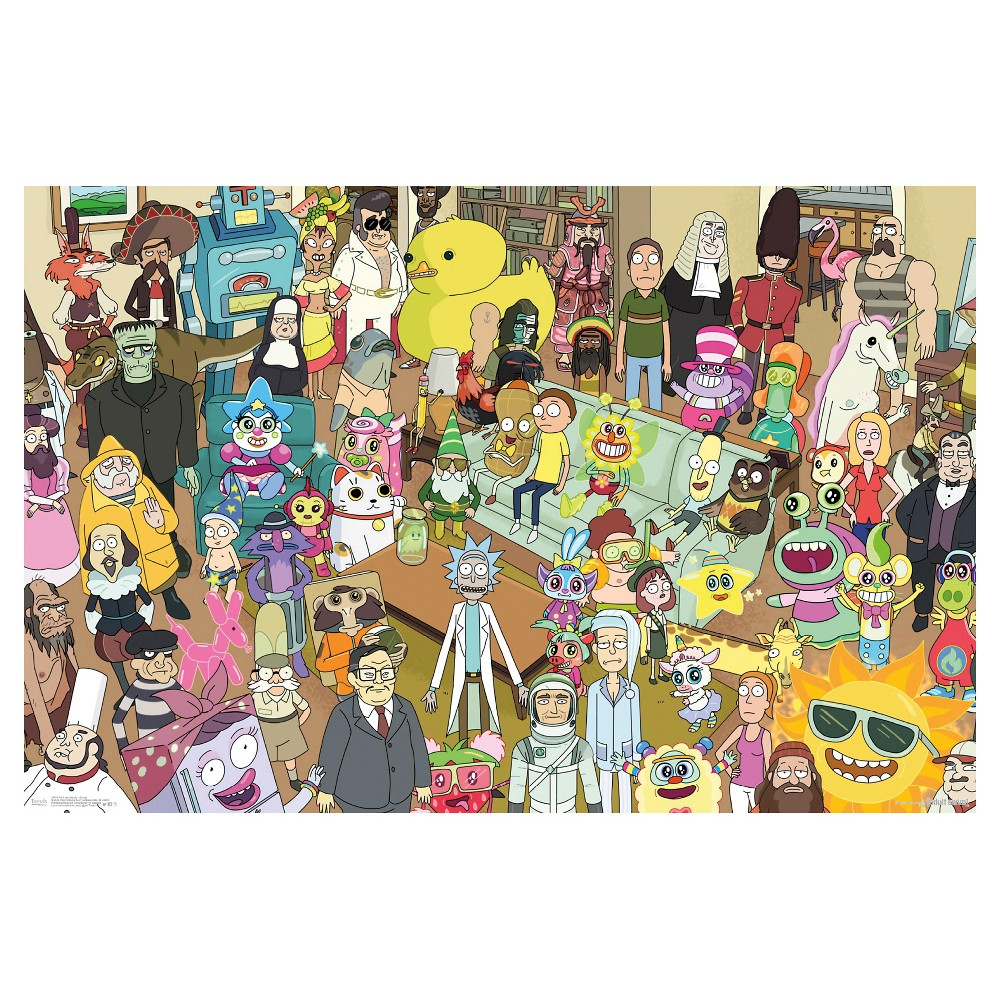 Rick and Morty Group Poster 34x22 - Trends International, Multi-Colored