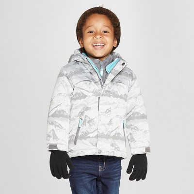 Toddler Boys' Jacquard 3-in-1 Jacket - Cat & Jack™ Gray 18M