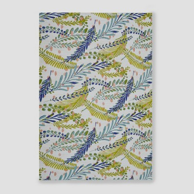 7' x 10' Botanical Outdoor Rug Blue/Green - Threshold™