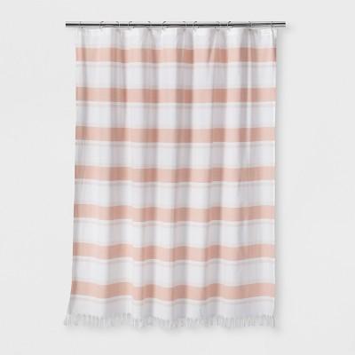 Woven Stripe Shower Curtain White - Threshold™