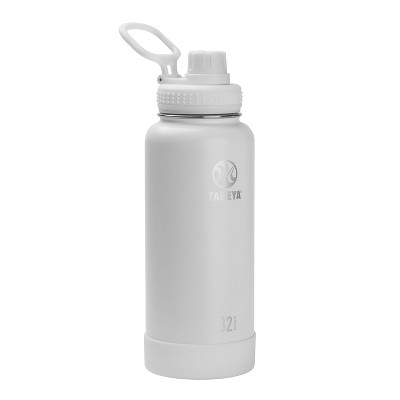 Takeya Actives 32oz Insulated Stainless Steel Bottle with Insulated Spout Lid - White