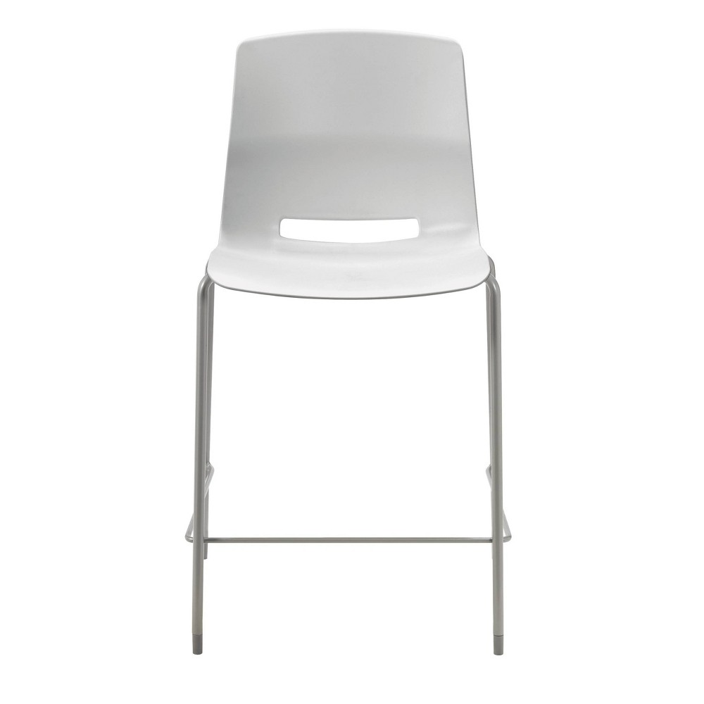 "Image of ""25"""" Lola Stacking Office Counter Stool Light Gray - Olio Designs"""