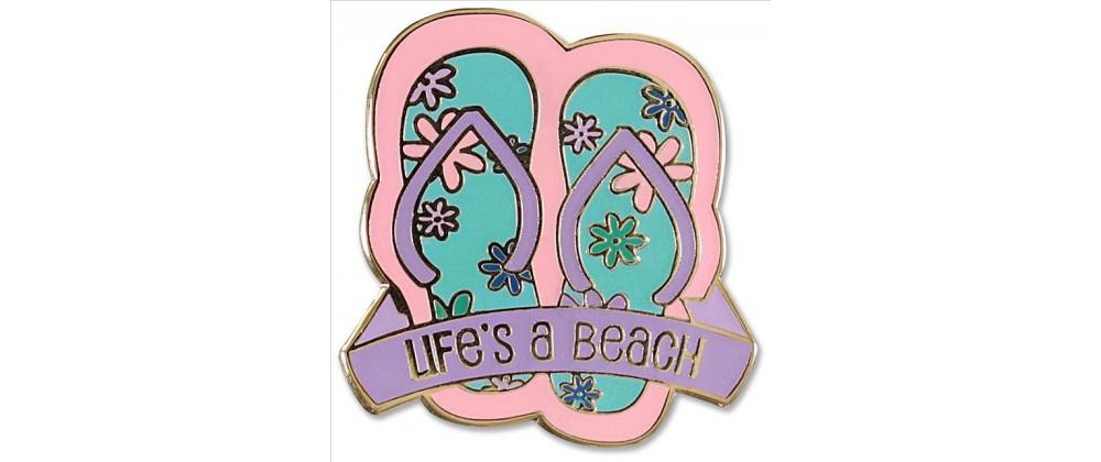 Target Life's a Beach Flip Flops Hard Enamel Cloisonne Pi...