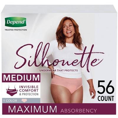 Depend Silhouette Incontinence Underwear for Women - Maximum Absorbency - Medium