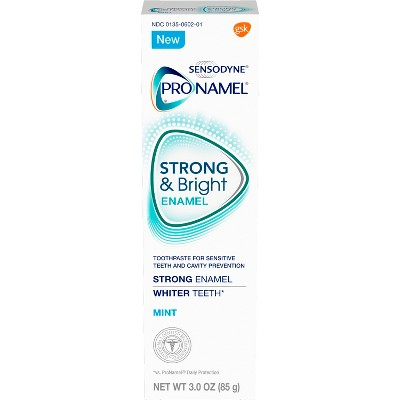 Toothpaste: Sensodyne Pronamel Strong & Bright