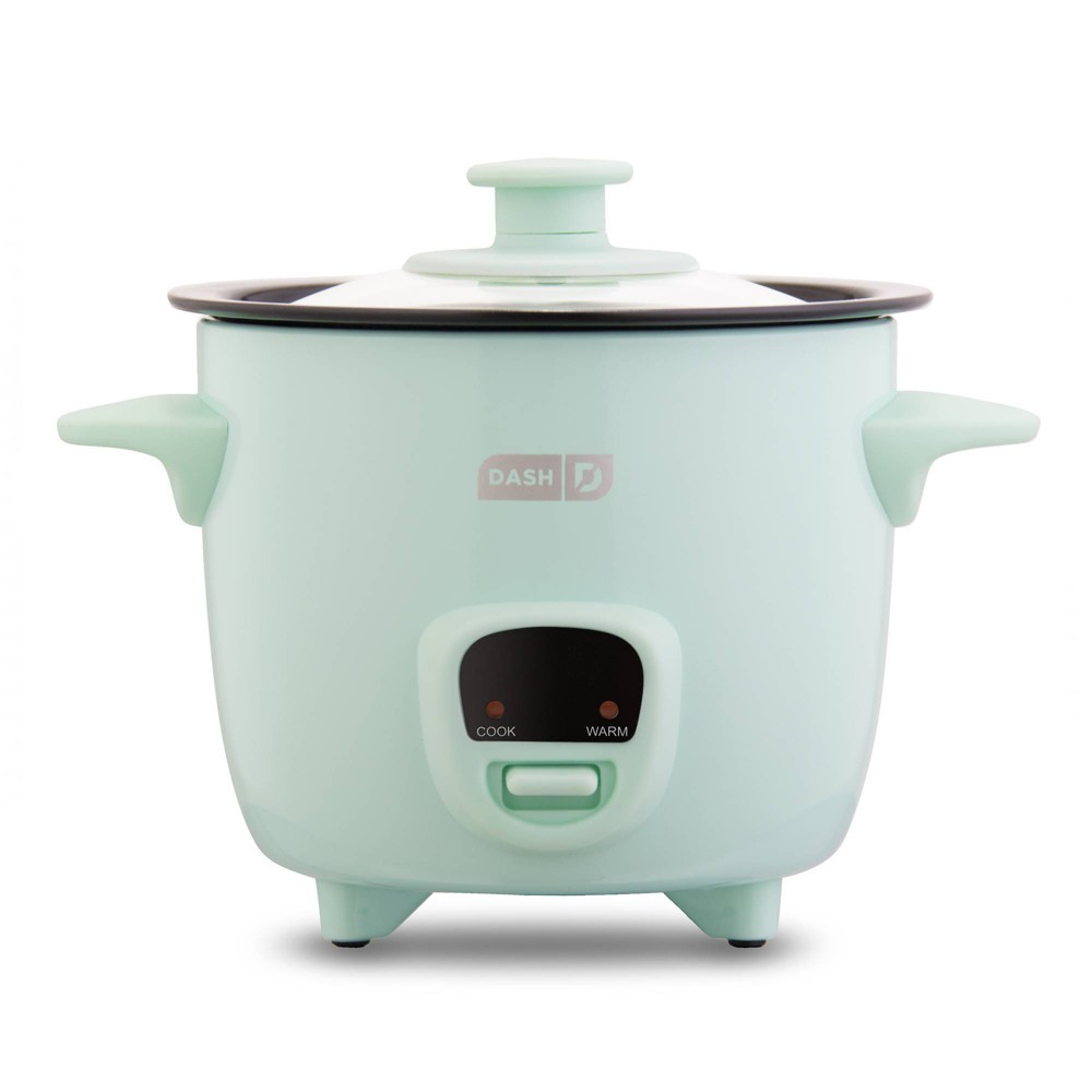 Image of Dash 2-Cup Electric Mini Rice Cooker - Aqua, Blue