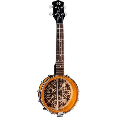 """Luna Guitars Banjolele 8"""" Ukulele Tobacco Sunburst"""