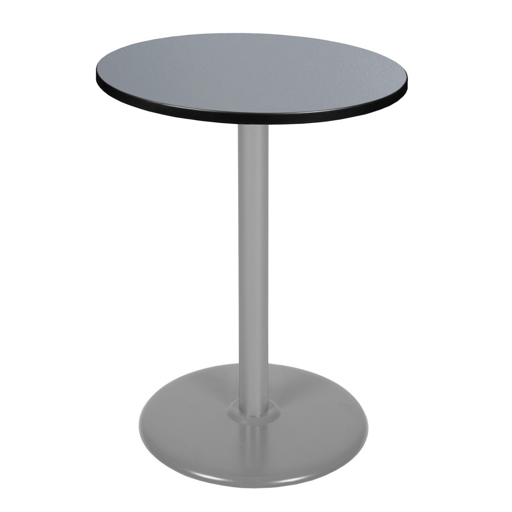30 Via Cafe High Round Platter Base Table Gray - Regency